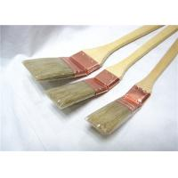 Natural Bristle Radiator Paint Brush Wooden Long Handle For Wall Painting / Cleaning