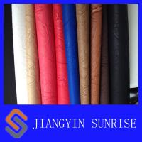 Quality Anti - Yellowing Embossed Pattern PU Synthetic Leather / PU Polyurethane Leather for sale