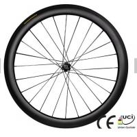 Quality Black  Carbon Track Wheelset Clincher Cycling 700C U Shape 38mm / 50mm 1350g Weight for sale