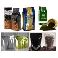 Quality PET / AL / PE Coffee Valve Foil Bag Packaging Durable with Hang Hole for sale