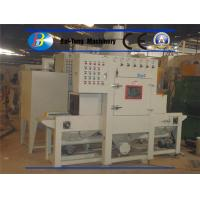 Quality Small Flat Parts Automatic Sandblasting Machine Adjusted Belt Conveyer Speed for sale