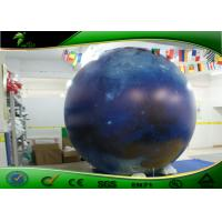 Quality Inflatable Advertising LED Helium Balloons / Inflatable Moon Balloon EN71 for sale