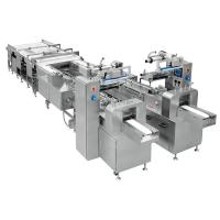 Quality Touch Screen Snack Food Production Line / Cake Packaging Machine for sale