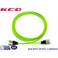 Quality FC-FC OM5 Optical Fiber Patch Cable Jumper Cord 100G Multimode 50/125 Lime Green PVC for sale