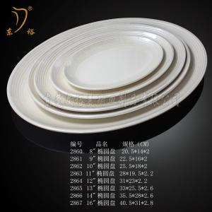 Quality Melamine dinnerware plate plastic dish melamine tray for sale