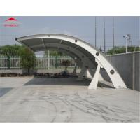Quality 1050gsm PVC Roof Fabric Tensile Membrane Structures / Mobile Car Tent Garage for sale