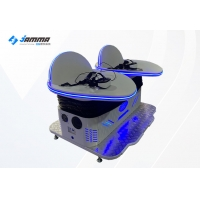 Quality Double Players 9D VR Cinema Roller Coaster Virtual Reality Machine for sale
