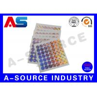 Quality Tamper Evident 3D Custom Holographic Stickers for steroid label box packaging for sale