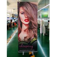 Quality 80 x 200cm Retractable Roll Up Banner Aluminium Alloy Stand For Hair Extension for sale