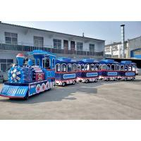 China Thomas Outdoor Electric Trackless Train Tour Carousel Machine In Blue Color on sale