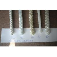 Quality White E-Fiberglass Oil Lamp Wick Braided , High oil absorption for sale