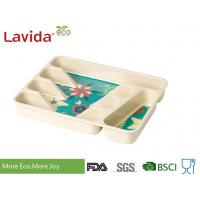 Quality Professional Restaurant Use Bamboo Lunch Trays Non - Toxic Environmental Friendly for sale