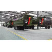 Quality Transport Sand Gravel 3 Axle 12 Wheel Tipper Semi Trailer for sale