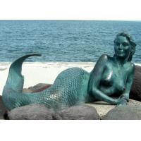 Quality Decoration Mermaid Outdoor Bronze Garden Sculpture 200cm Length OEM Available for sale