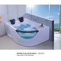 China White and Beautiful Square Whirlpool Bathtub on sale