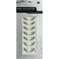 China White And Black French Nail Stickers Easy Removable With Safety Glue on sale