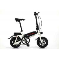 Quality 36V 350W Motor Portable Electric Bike Black And White With 14 Inch Tires for sale