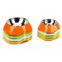 Two Size Multi Color Cool Pet Bowls , A5 Melamine With Anti Slip Pet Dishes Bowls