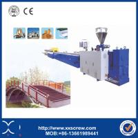 China ISO Certified PVC PE PP Wood Plastic Floor Boards Production Line in India on sale