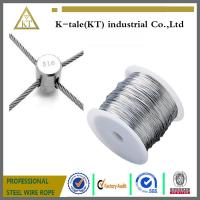 Quality Stainless Steel Wire rope For Stainless steel wire rope cross clamp for sale