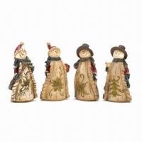 China Resin Snowman, Country Carolers/Christmas Crafts on sale