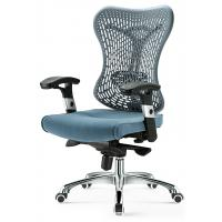 Quality Commercial Gray Mesh Task Chair With Arms , Mesh Back Desk Chair For Secretary for sale