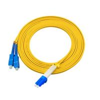 Quality 3 Meters LC To SC Single Mode Fiber Jumpers Yellow Jacket Easy Installation for sale