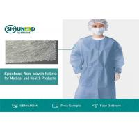 Quality Non Toxic Medical Breathable Non Woven Fabric Disposable Surgical Gown Fabrics for sale