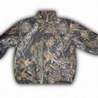Quality Hunting Jacket with 100% Polyester Knitted Brush Tricot and TPU 1000/1000 Shell for sale