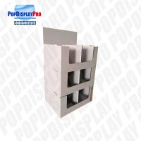 Quality Store seasonal 2-tier Cardboard Quarter Pallet Display Stand to Promote Chocolates Snacks for sale