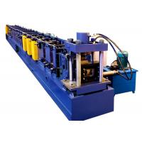Quality Blue Automatic Roll Forming Machine For Light Duty Supermarket Shelves Steel Profile for sale