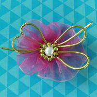 Quality Cute Purple Baby Flower Girl Hair Accessories , Hair Ribbons For Toddlers for sale