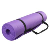 China 10mm,15mm extra thikness anti-slip NBR Yoga Mat with strap on sale