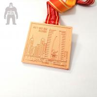 Quality Round Square Rose Metal Gold Medal Prize Gold Medal For Team Competetion Running Match for sale
