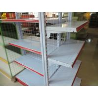 China Red Color Classical Wire Gondola Shelving 4 Layer Combination Cold Rolled Steel on sale