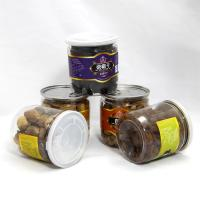 Quality Round Dry Food Canister Clear Pet Jars with easy open lid , Wide Mouth Plastic Jars , PE Clear Cap for sale