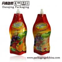 Quality Special Shape Printing Bag Stand Up Pouch With Spout Packaging , ISO for sale