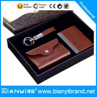 Quality Leather business gift set packaging for sale