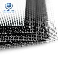 Quality Dark black security screen grid 2m 2.4m 316 stainless steel wire material for sale