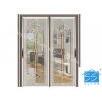 Quality Bevel Clear Sliding French Patio Doors , Safety French Glass Sliding Patio Doors for sale