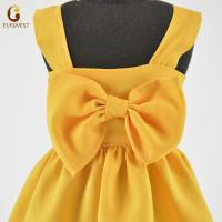 China 2019 hot-sale yellow sleeveless girl doll dress for 18inch American girl doll clothes on sale