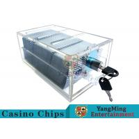 Quality Acrylic Casino Game Accessories Dealers Card Holder For 6 Decks Playing Cards for sale