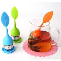 Quality BAP Free Food Gade Silicone Leaf shape Tea Infuser with custom logo for sale