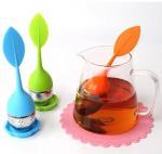 Quality BAP free tea infuser Cute silicone tea infuser leaf shape FDA silicone for sale