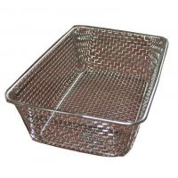Buy cheap Food grade Woven Wire Metal Wire Basket , Stainless Steel Wire Mesh Baskets from wholesalers