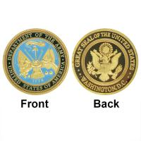 China Low Price 24K Gold Plated Coin U.S. Department Of The ARMY Challenge Coin Commemorative Coin Wholesale on sale