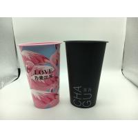 3D Lenticular Printed Plastic Cups With Lid And Red Heart Stopper Water Mug