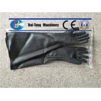 Quality Black Color Sandblast Cabinet Gloves Durable For Manual Sandblasting Machine for sale