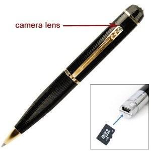 Quality Small CMOS motion sensor Hidden synchronous video DVR Pen surveillance Camera with 3 meter Range for sale