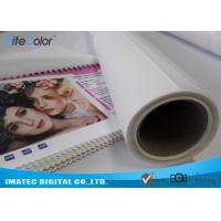 China Photographic Polyester Canvas Rolls 280gsm , Digital Printing Pure Polyester Fabric on sale